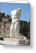 Poolside Statue Greeting Card