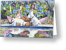 Poolside Tea I Greeting Card
