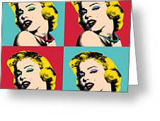 Pop Art Collage  Greeting Card