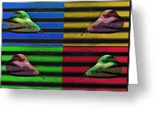 Pop Art Pears Greeting Card