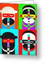 Pop Art People Quattro Greeting Card
