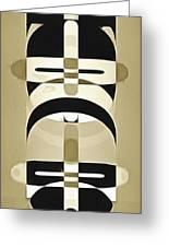 Pop Art People Totem 3 Greeting Card
