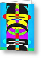 Pop Art People Totem 7 Greeting Card
