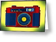 Pop Art Robin Greeting Card