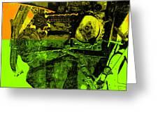 Pop Art Style Machine Gears Greeting Card by Ann Powell