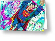 Pop Art Superman Greeting Card