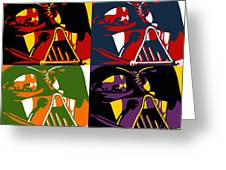 Pop Art Vader Greeting Card