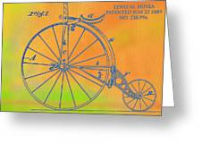 Pop Art Velocipede Patent Greeting Card
