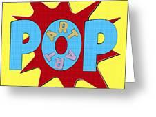 Pop Art Words Splat 02 Greeting Card