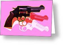 Pop Handgun Greeting Card