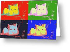 Pop Kitty Greeting Card