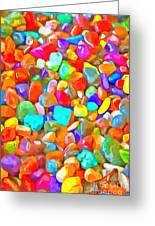 Pop Rocks Abstract Greeting Card