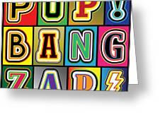 Pop Words Greeting Card