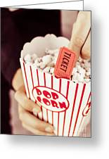 Popcorn Box Office Greeting Card