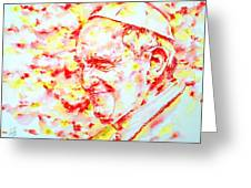 Pope Francis Profile -watercolor Portrait Greeting Card