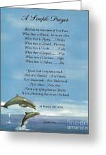 Pope Francis St. Francis Simple Prayer Dance Of The Dolphins Greeting Card by Desiderata Gallery