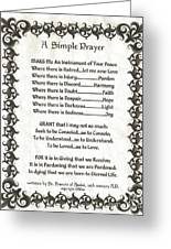 Pope Francis St. Francis Simple Prayer Fleury Of Faith Greeting Card by Desiderata Gallery