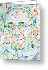 Pope Francis Watercolor Portrait Greeting Card