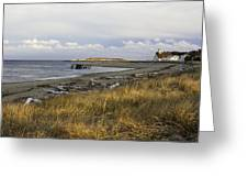 Popham Beach On The Maine Coast Greeting Card
