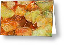Poplar Leaves Greeting Card