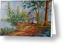 Poplar Point Lighthouse Greeting Card
