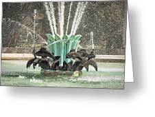 Popp Fountain In City Park New Orleans Greeting Card