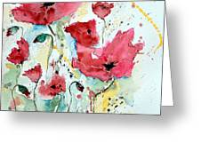 Poppies 05 Greeting Card by Ismeta Gruenwald