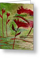 Poppies Abstract 2 Greeting Card
