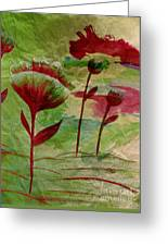 Poppies Abstract 3 Greeting Card