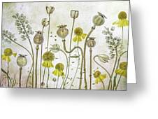 Poppies And Helenium Greeting Card