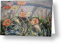 Poppies And Metal Things Greeting Card
