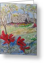 Poppies And Ruins Greeting Card