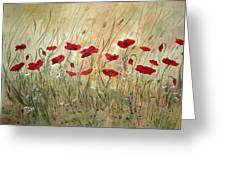 Poppies And Wild Flowers Greeting Card