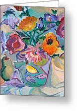 Poppies Greeting Card by Brenda Ruark