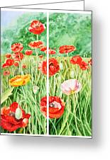 Poppies Collage I Greeting Card