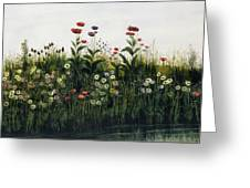 Poppies, Daisies And Thistles Greeting Card