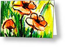 Poppies Garden 2 Greeting Card