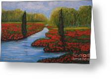 Poppies Guards Greeting Card by Elena  Constantinescu