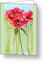 Poppies I Greeting Card