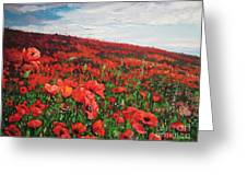 Poppies Impression Greeting Card by Andrei Attila Mezei