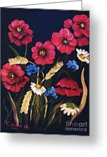 Poppies In Oils Greeting Card