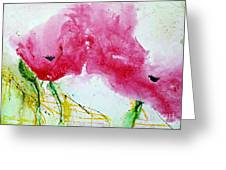 Poppies In Summer - Flower Painting Greeting Card