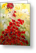 Poppies Lady Greeting Card