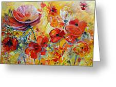 Poppies On Fire Greeting Card