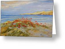 Poppies On The Beach Greeting Card