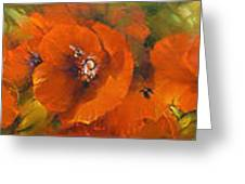 Poppies - Triptych Greeting Card