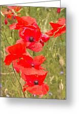 Poppies Vi Greeting Card