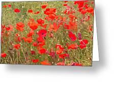 Poppies Vii Greeting Card