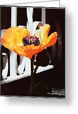 Poppy Art Poster Print Greeting Card