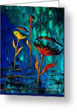 Poppy At Night Abstract 1 Greeting Card